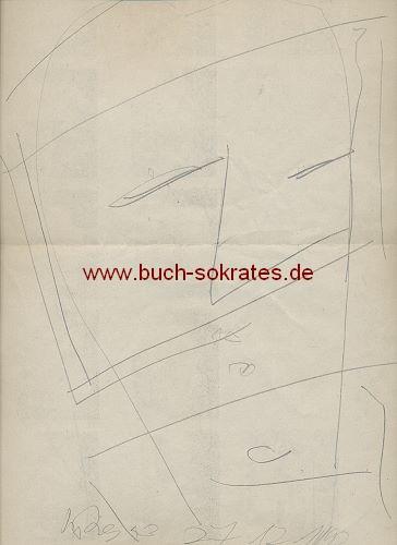 Hartmut Ritzerfeld: 3 Kopfporträts (Handzeichnungen)