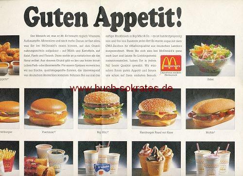 Hartmut Ritzerfeld: 3 Kopfporträts (Handzeichnungen) - Rückseite McDonald