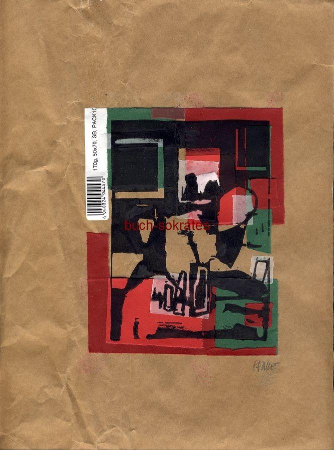 Original-Linolschnitt - Zwei Trinker (2017)