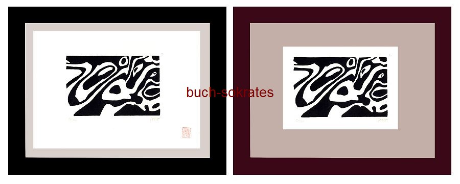 Original-Linolschnitt Drückeberge - Linocut / gravure sur linoléum (2017)