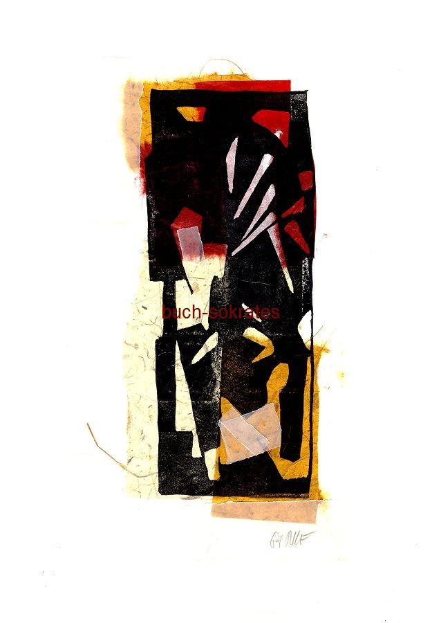 Original-Linolschnitt Collage: Stier / Stierkampf / Corrida - Linocut / gravure sur linoléum (2016)