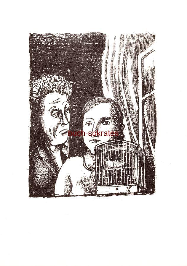 August Wilhelm Dressler: o.T. (Paar mit Vogelbauer) (1967)