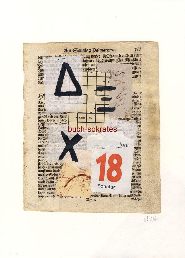 Original-Linolschnitt Collage Textur (2017)