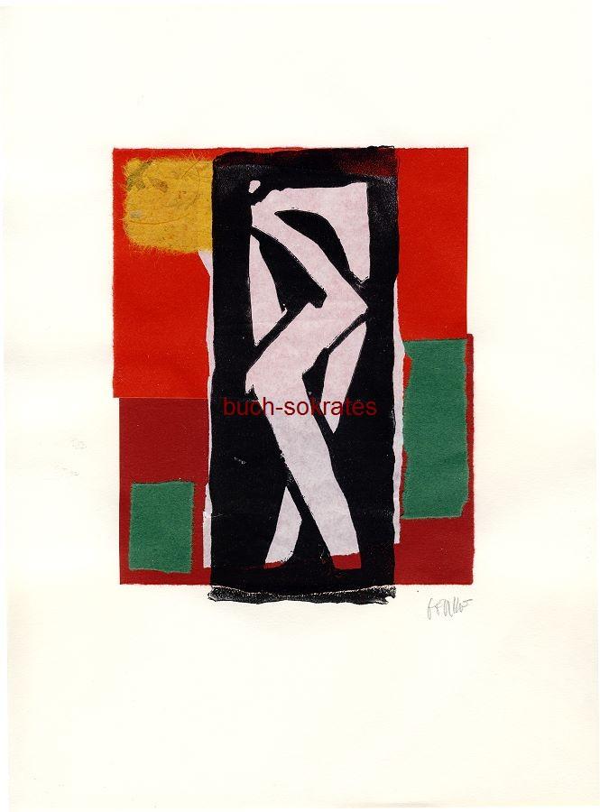Original-Linolschnitt - Badende (2002/17)