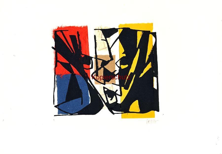 Original-Linolschnitt - Marco Gerke: Clown (Hommage an Tappert) (2019)