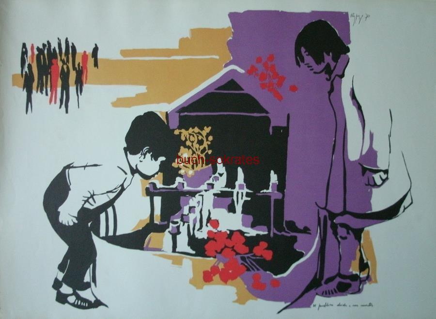 Das Volk hat Kunst mit Allende - Anibal Ortiz Pozo: El pueblo no olvida a sus muertos (1970)