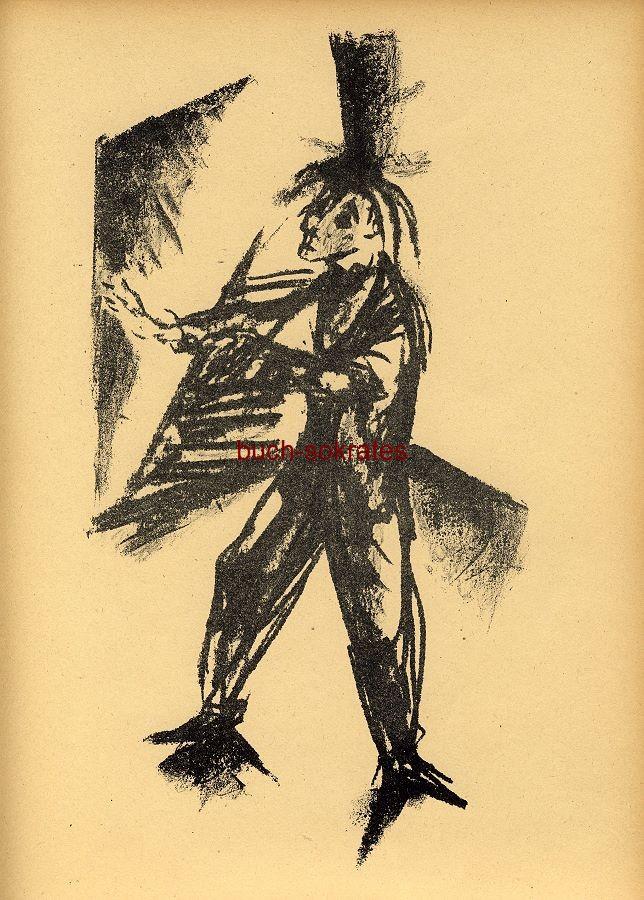 Original-Graphik Lithographie Wilhelm Kohlhoff: Der Blinde (1919)