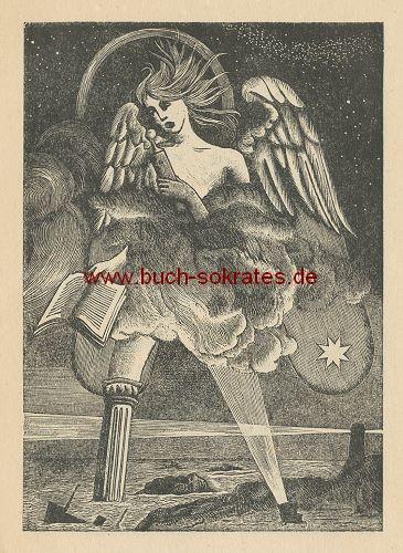 Karl Rössing: O-Holzstich aus dem Apokalypse-Zyklus (1948)
