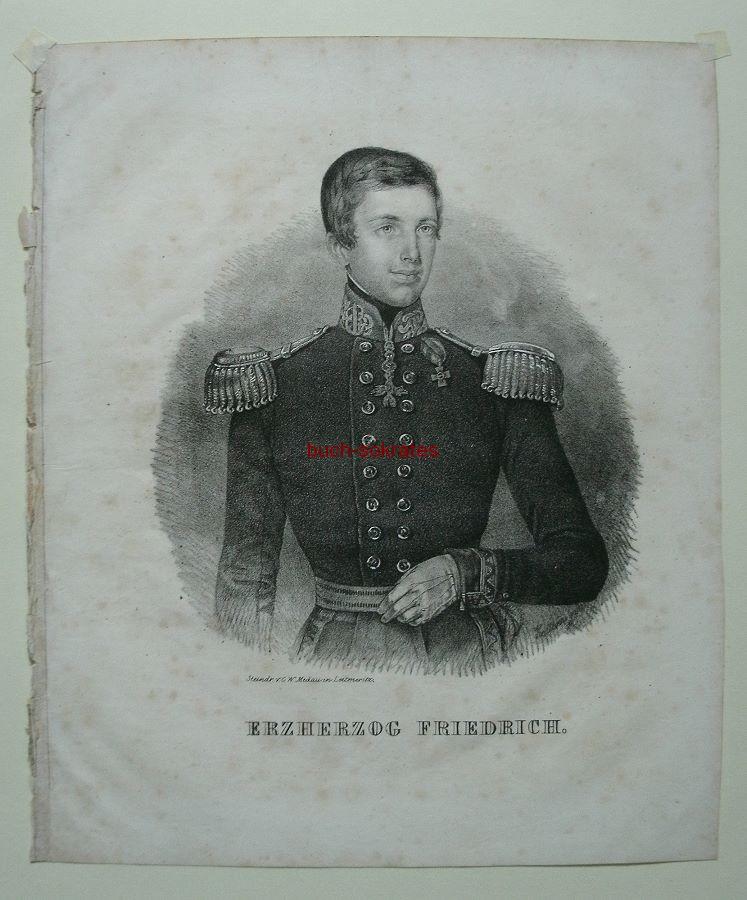 C.W. Medau: Porträt Erzherzog Friedrich Ferdinand Leopold von Österreich (1821-47) in Uniform mit Orden (ca. 1840)