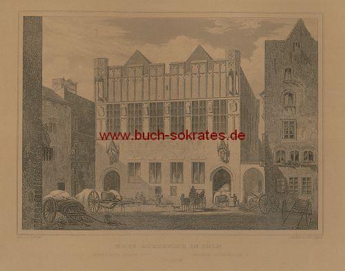 Johann Poppel: Haus Gürzenich in Cöln (ca. 1844) - Detail