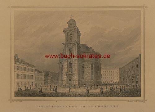 Johann Poppel: Paulskirche in Frankfurt a/M. (ca. 1850) - Detail