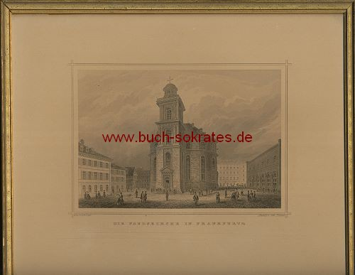 Johann Poppel: Die Paulskirch in Frankfurt a/M. (ca. 1850)
