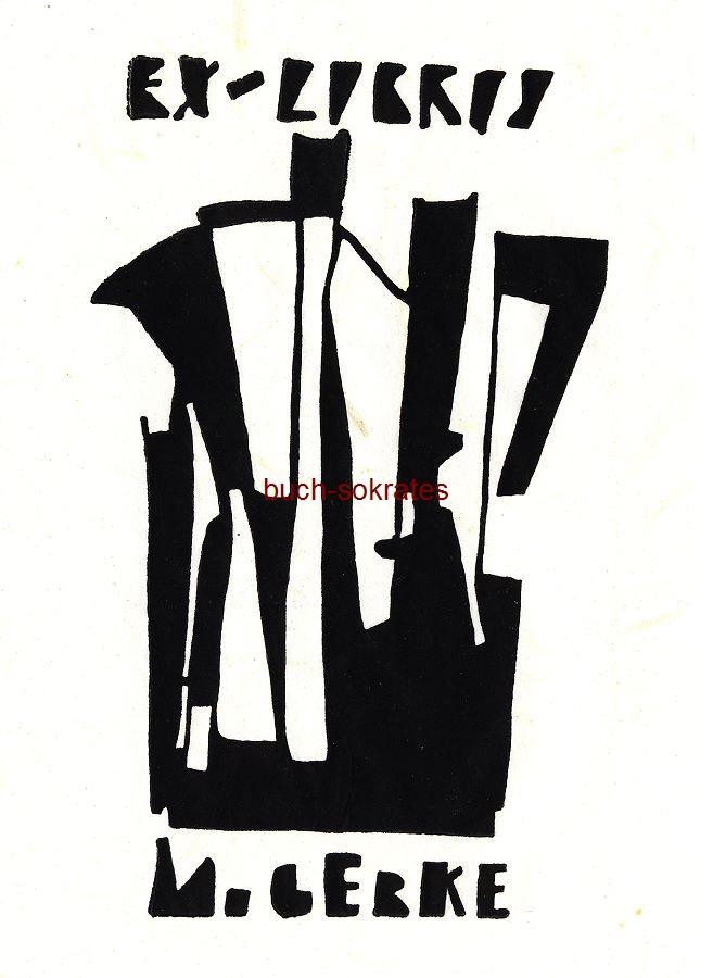 Original-Linolschnitt Exlibris für M. Gerke (Eigenblatt) - Exlibris Espressokanne (Moka Express) (2018)