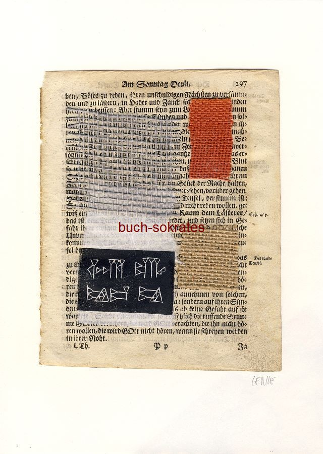 Original-Linolschnitt Collage Textur (2017)