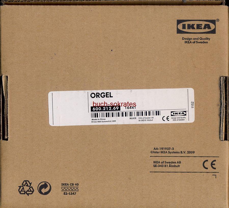 Ikea Lampe ORGEL (Ikea-Nummer 600.212.69) (~2010)