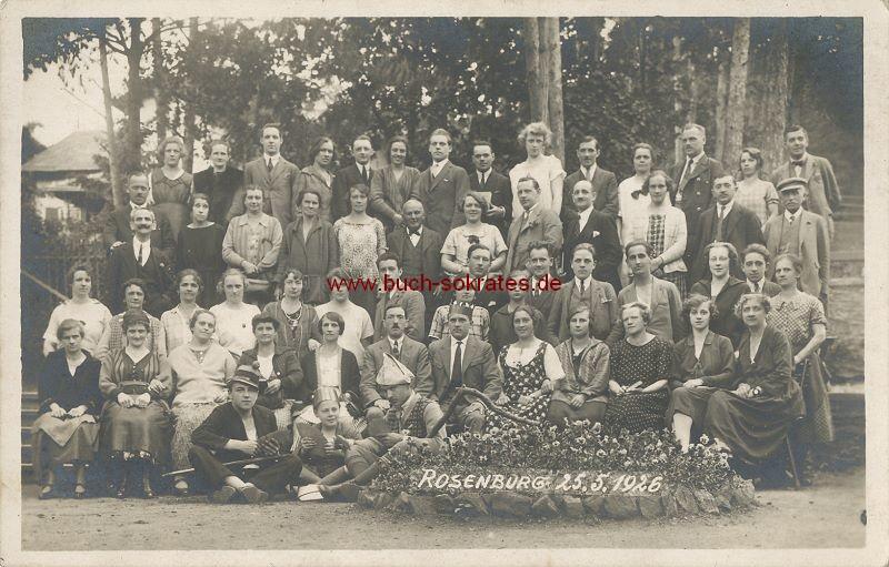 s/w-Foto-Postkarte Gruppe aus Rosenburg (1926)