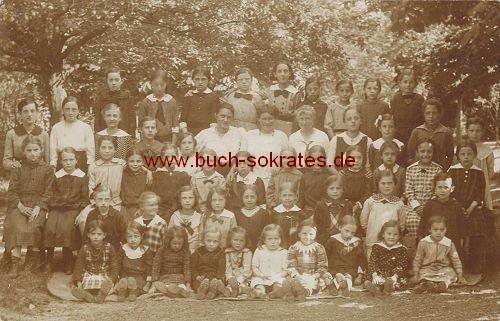 Foto-Postkarte Schulklasse - wahrscheinlich aus Holland (ca. 1920)