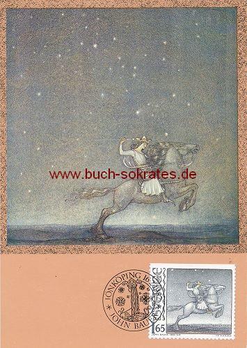 Ansichtskarte John Bauer - Der Ritter reitet - 1982