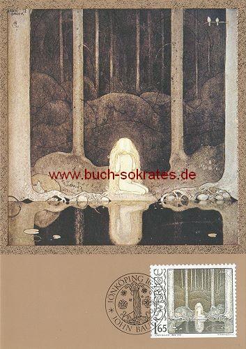 Ansichtskarte John Bauer - Die Prinzessin am Waldsee - 1982