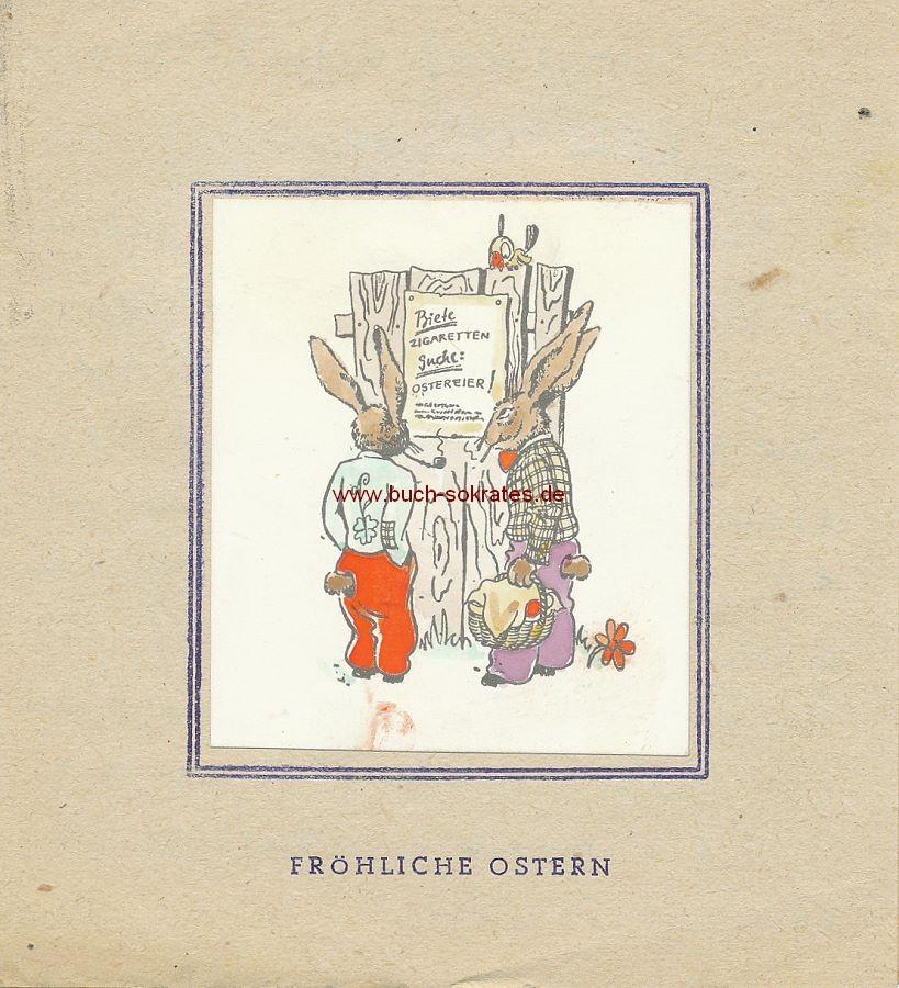 Oster-Karte Biete Zigaretten Suche Ostereier (1948)