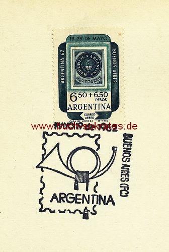 Karte u. Briefmarke 100. Jahrestag Briefmarke in Argentinien