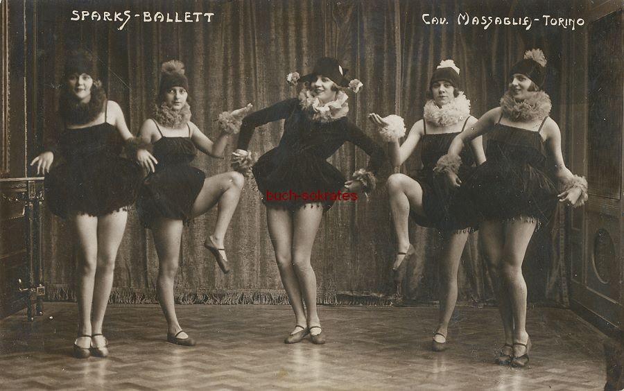 Foto 5 sexy Tänzerinnen vom Sparks-Ballett in Turin / Torino (ca. 1925)