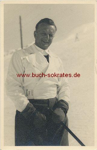 Foto Mann mittleren Alters in Ober-Gurgl / Tirol Österreich (1937)