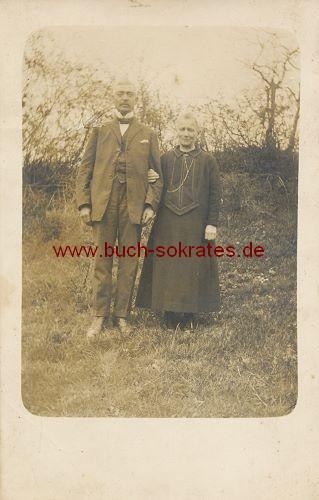Foto Älteres Ehepaar aus Eilendorf / Aachen (ca. 1920)