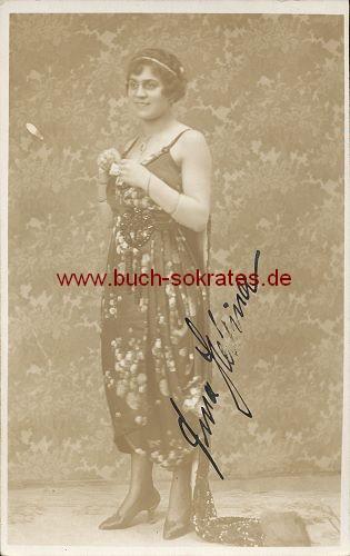 Foto Autogramm Tina Hellina München (ca. 1920)