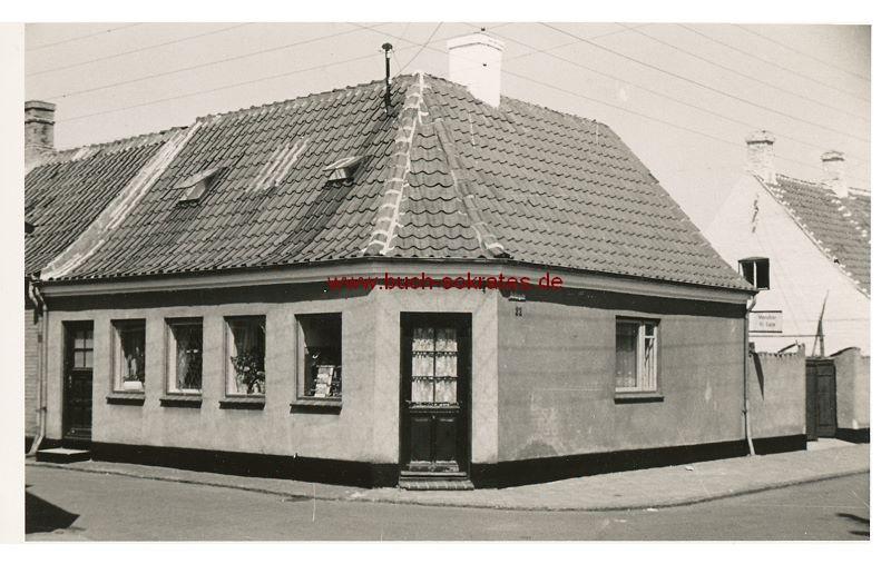 s/w-Foto-Postkarte Haus in Kerteminde (ca. 1955)
