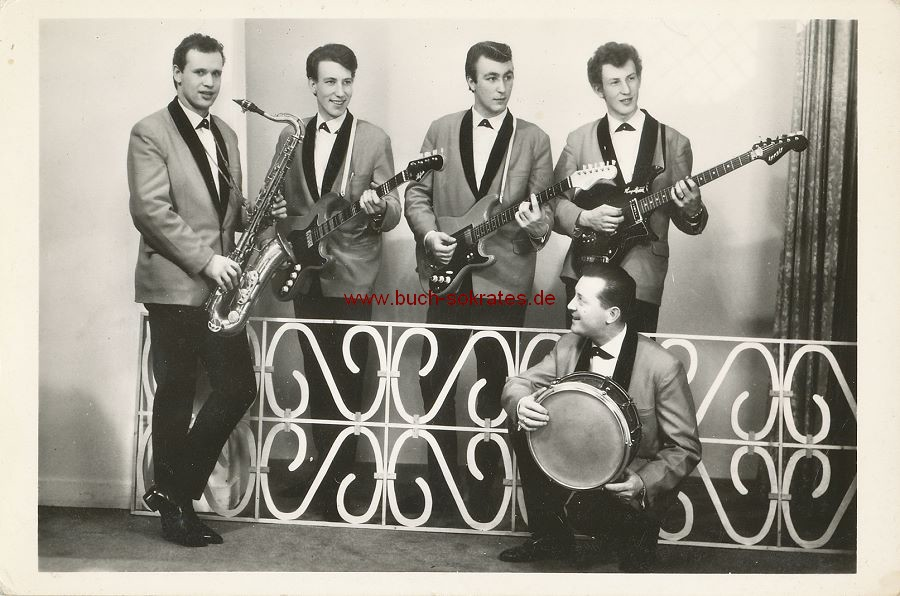 Foto Rock n Roll-Band / Beat-Band / Tanzband The All Stars aus Alphen / Nordbrabant (NL) (ca. 1965)