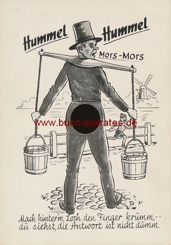 Ansichtskarte Finger-Durchsteck-Karte / Effektkarte Humorkarte Hamburg