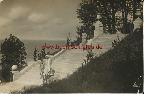 Foto-Postkarte Urlauber in Odessa (ca. 1920)