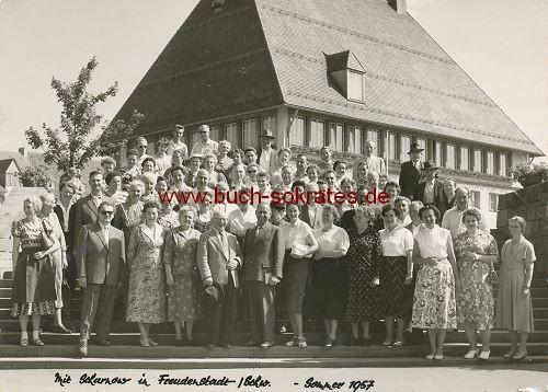 Foto Gruppe Urlauber in Freudenstadt / Schwaben (1921)