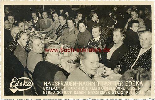 Foto Hausfrauen-Nachmittag der Edeka / Kleinkunstbühne Essen, Bernd Schildt, Essen (ca. 1940)