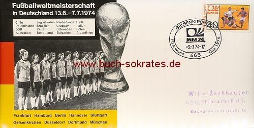 Karte Fußballweltmeisterschaft in Deutschland - 1974