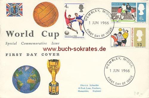 Briefumschlag World Cup 1966 England