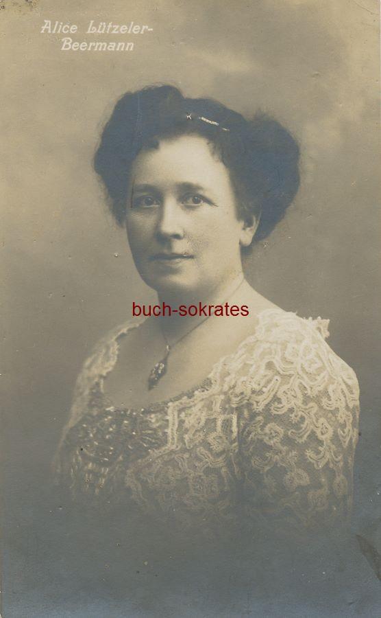 Foto-Postkarte Konzert- und Oratoriensängerin Alice Lützeler-Beermann (1919)