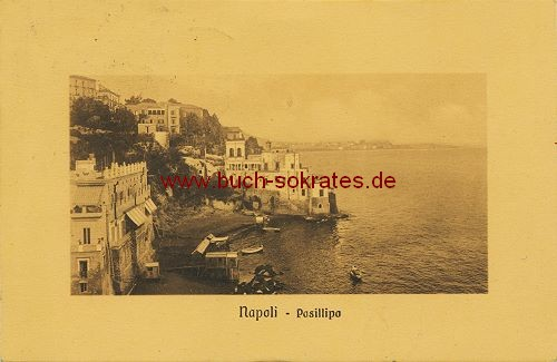 Postkarte Foto Napoli - Posillipo, Blick auf den Golf von Neapel (1911)