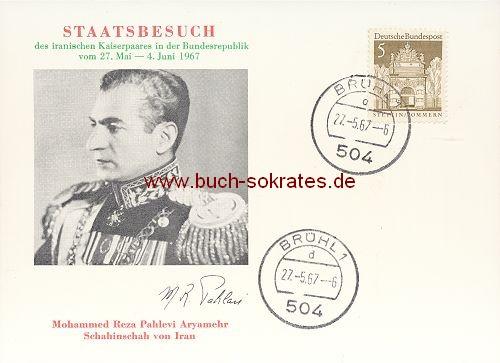 Staatsbesuch des iranischen Kaiserpaares in der BRD 1967