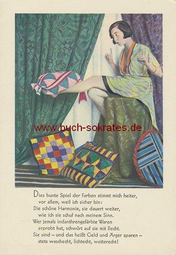 Ansichtskarte Werbung Indanthren - ca. 1920