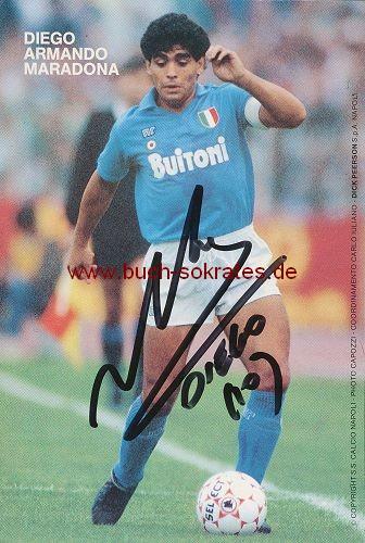 Autogramm-Karte Diego Armando Maradona SSC Neapel