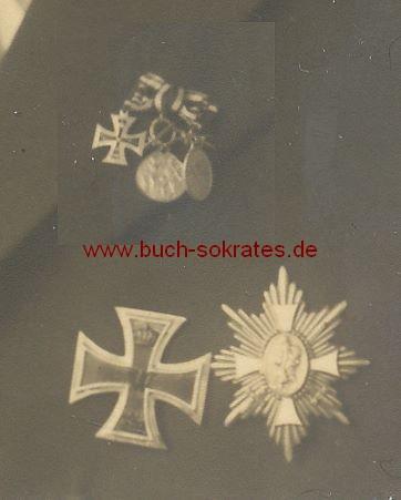 Foto Älterer Mann aus Aachen mit etlichen Orden, u.a. dem Eisernen Kreuz (1935)
