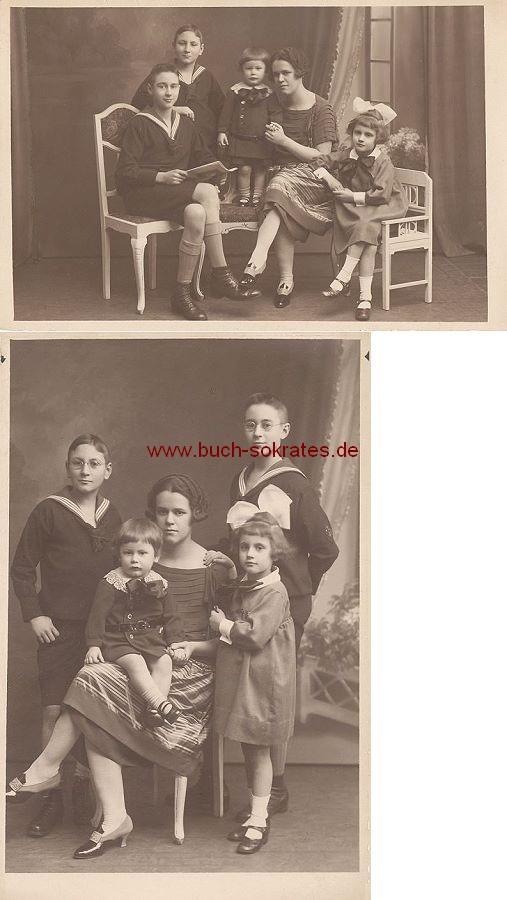Foto-Postkarte Aachener Familie / Mutter mit ihren Kindern (1925)