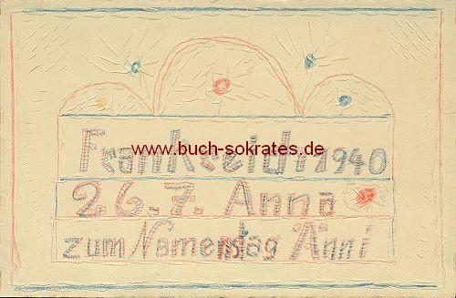 Karte Soldaten-Zeichnung Zum Namenstag