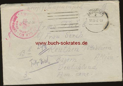 Ein Brief Kriegsgefangenenpost