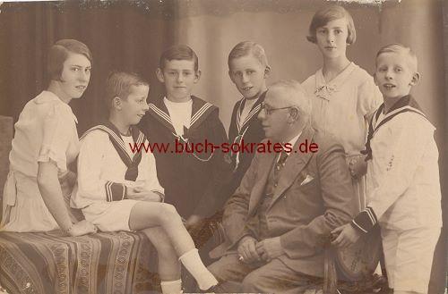 Foto-Postkarte Familie aus Amsterdam (1935)