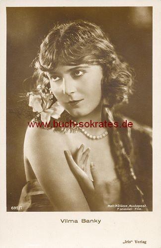 Foto-Postkarte ungarische Filmschauspielerin Vilma Banky (ca. 1925)