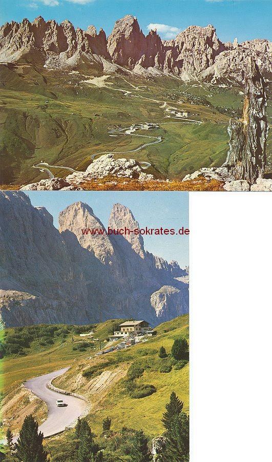 Ansichtskarte Grödner Joch / Passo Gardena: Torre di Murfreit / Gruppo di Cir (ca. 1970)