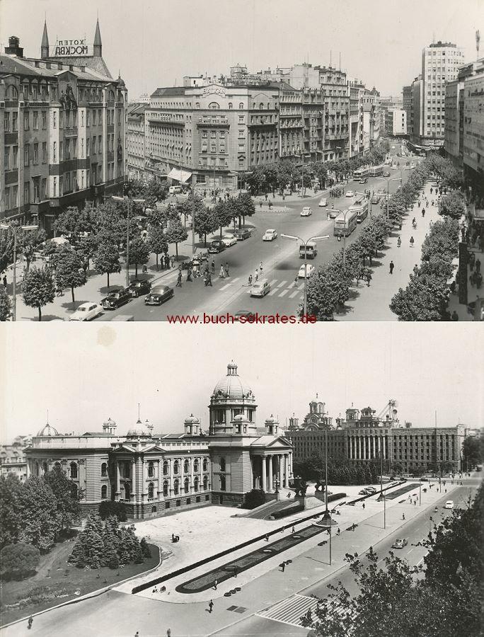 Foto Beograd / Belgrad: Terazije / Norodna skupstina (Parlament) (ca. 1960)